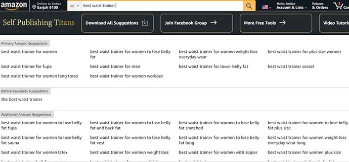 Huge Amazon Search Suggestion Expander