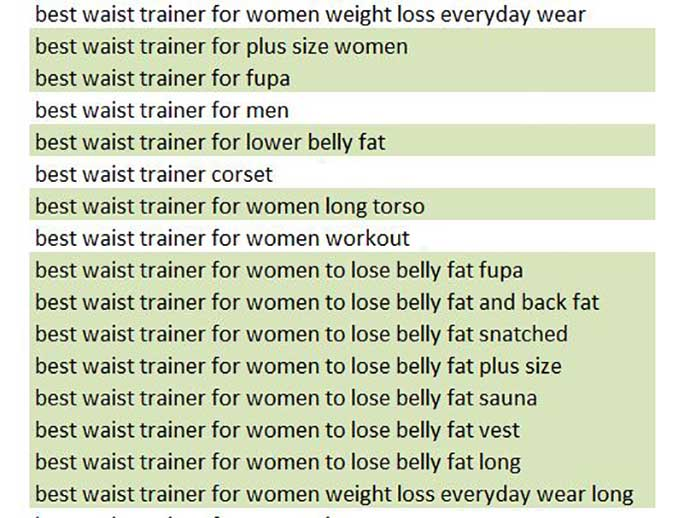 waist trainer low competition